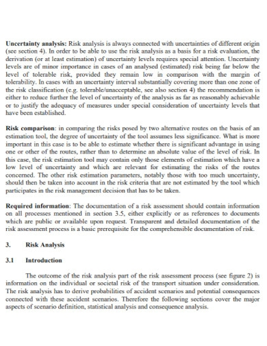road transport risk assessment