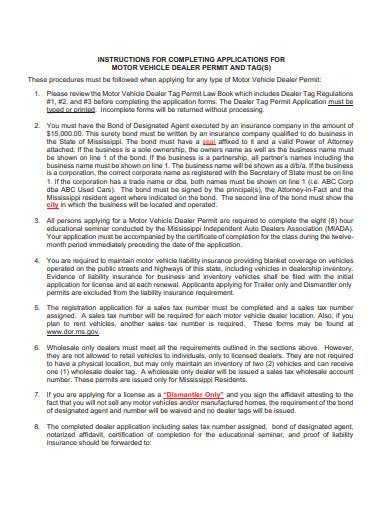 sample automobile dealer agreement