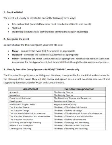 school event risk assessment