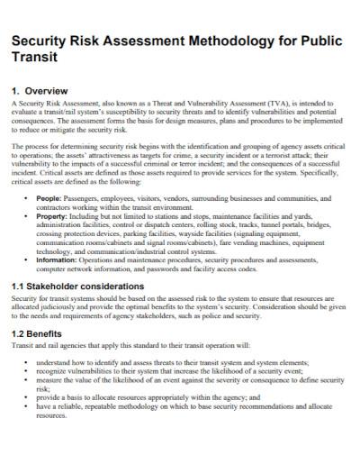 security risk assessment for public transit1