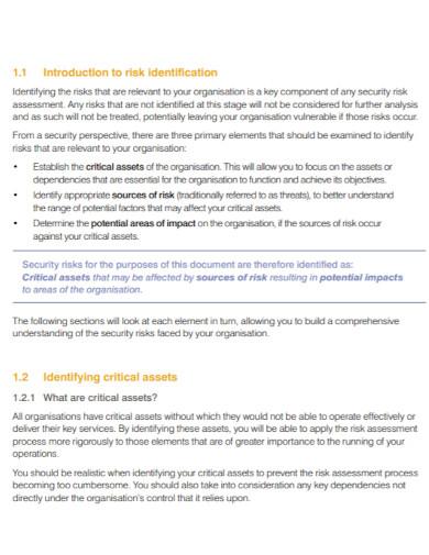 security risk assessment for transport
