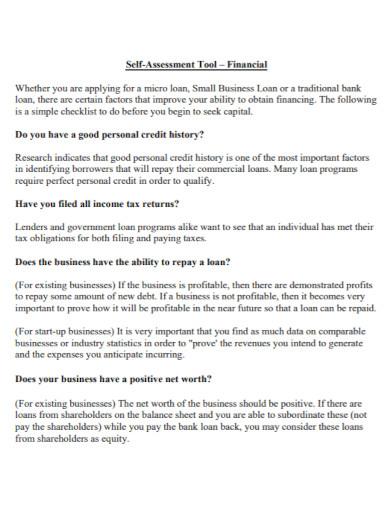 small business risk assessment