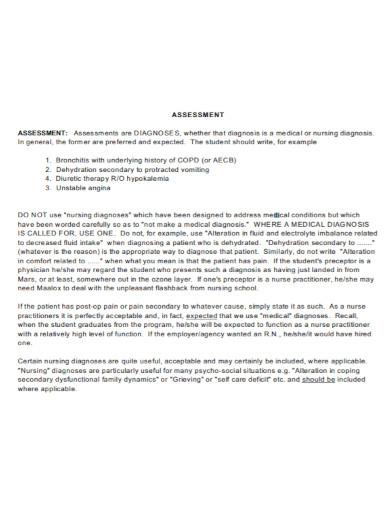 soap assessment in pdf