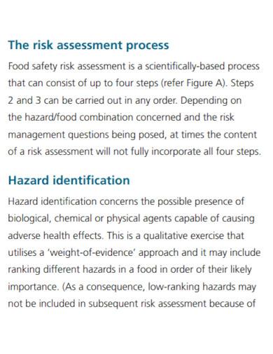 standard food safety risk assessment