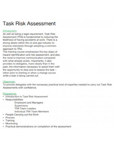 standard task risk assessment