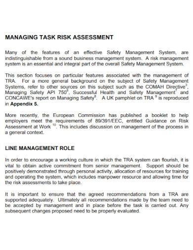 task risk assessment template
