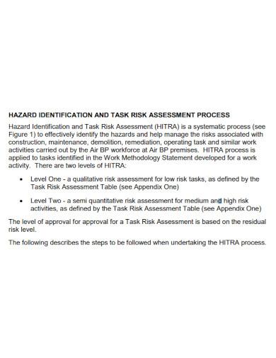 task risk assessment for non routine work