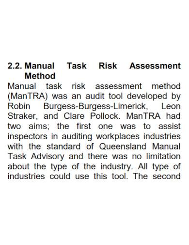 task risk assessment in pdf