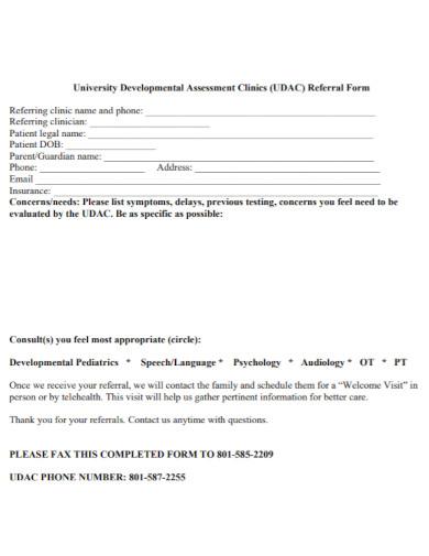 university developmental assessment