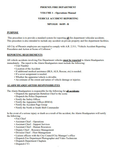 vehicle fire accident report