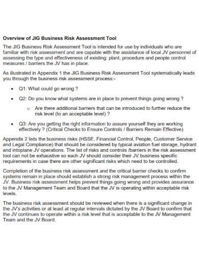 venture business risk assessment