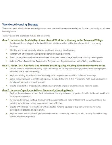 workforce housing needs assessment