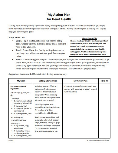 action plan for heart health