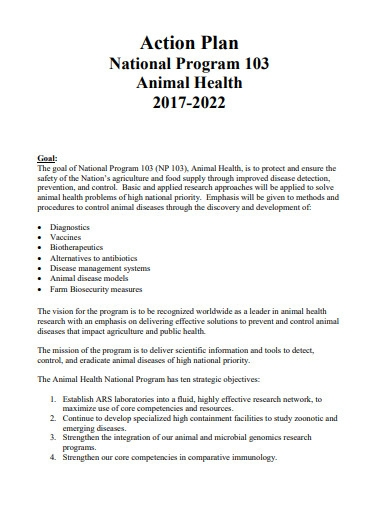 animal health action plan