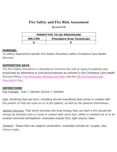 basic fire risk assessment