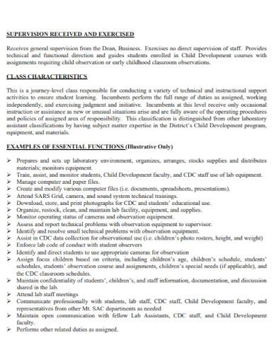 child development observation report
