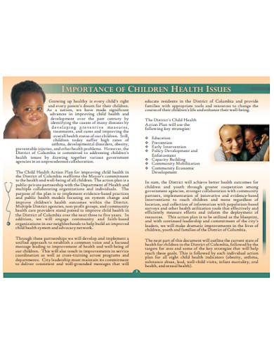 child health action plan