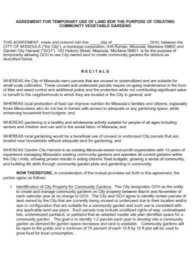 community land use agreement