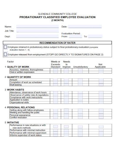 community probationary evaluation