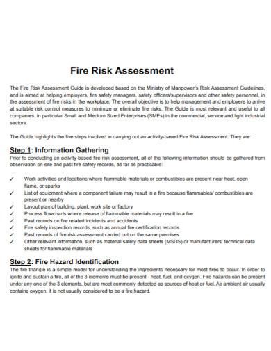 draft fire risk assessment