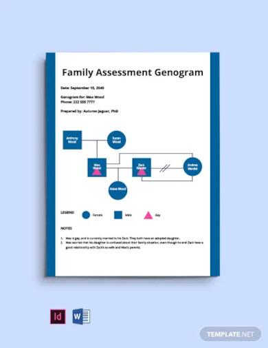 family assessment genogram template
