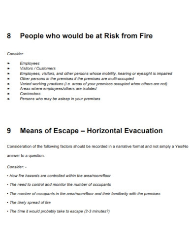 fire risk assessment in pdf
