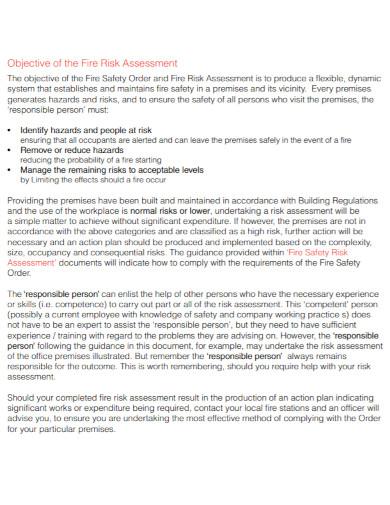 formal fire risk assessment