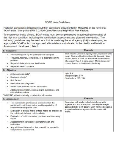 general comprehensive soap note