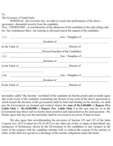 general training bond agreement
