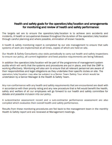 health and safety construction management plan