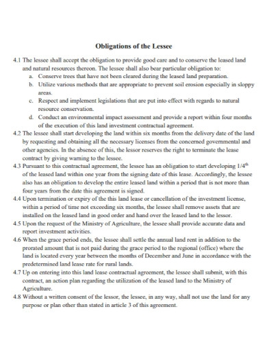 land lease contract in pdf