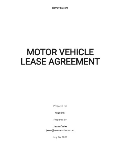motor vehicle lease agreement template1