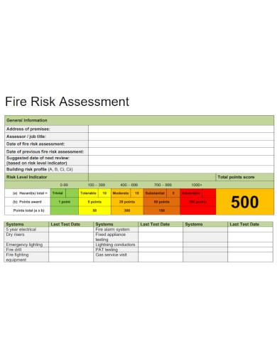 printable fire risk assessment