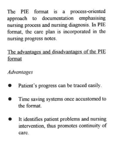 professional nursing progress note