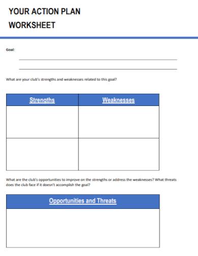 swot action plan worksheet