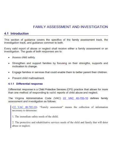 standard family assessment