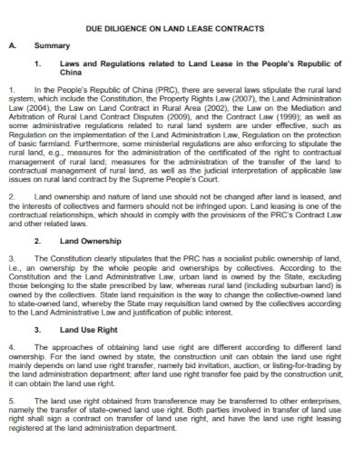 standard land lease contract
