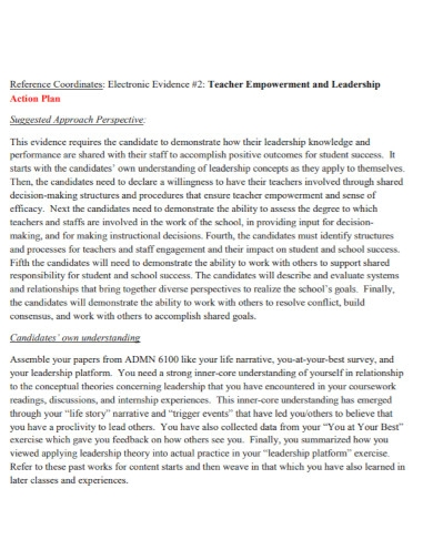 teacher leadership action plan