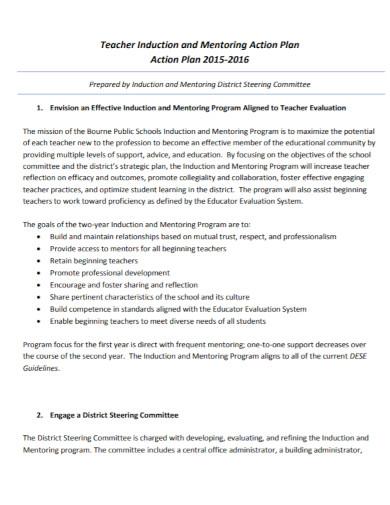 teacher mentoring action plan