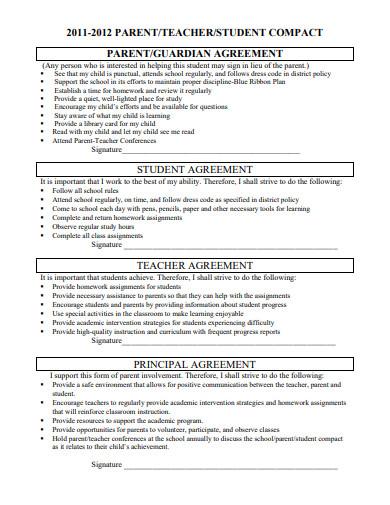teacher student and parent agreement