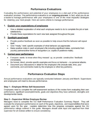 annual performance evaluation format