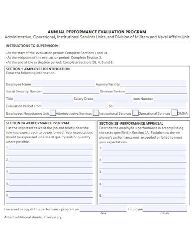 annual performance evaluation program