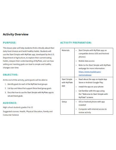 basic student lesson plan