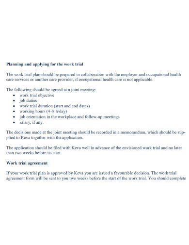 basic work trial agreement