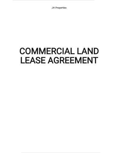 commercial land lease agreement template
