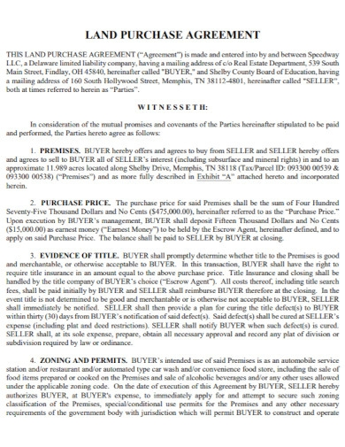 company land purchase agreement