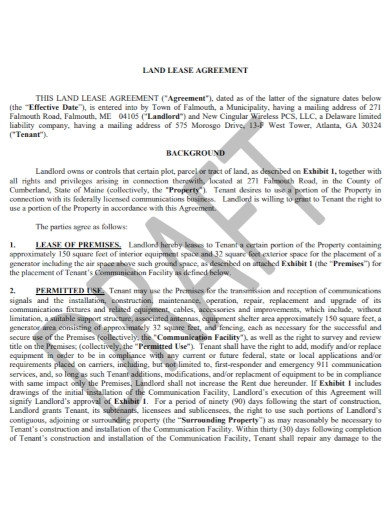 draft land lease agreement