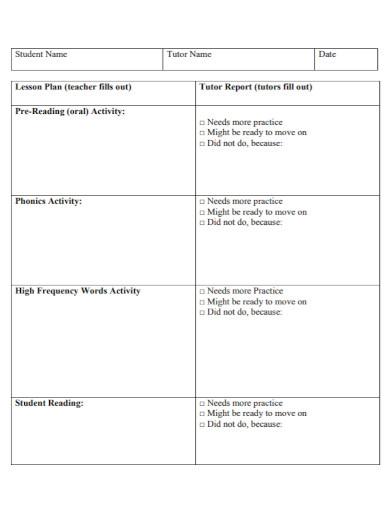 draft tutor lesson plan