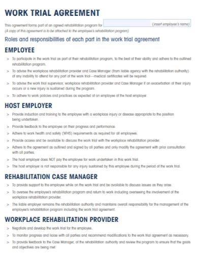 employee work trial agreement