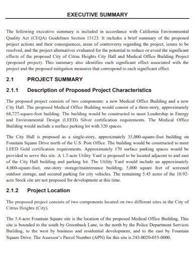 executive summary project proposal